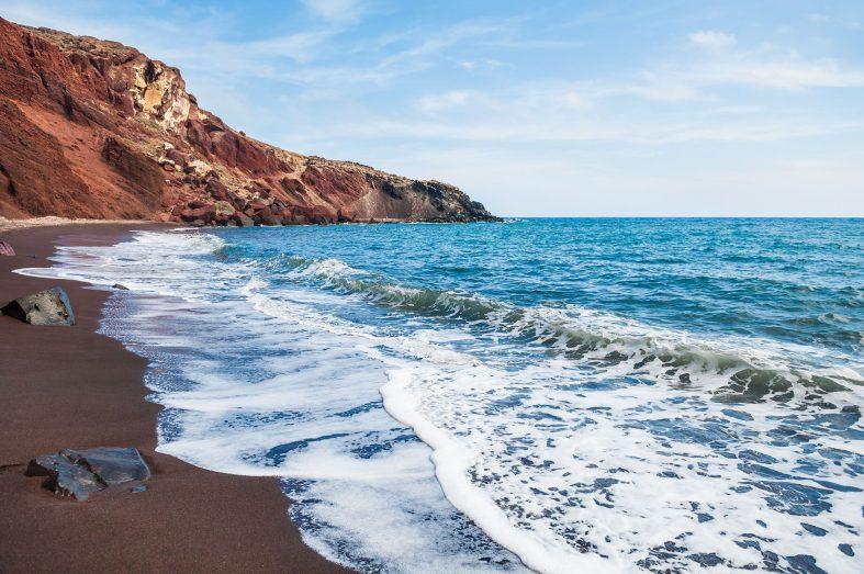 Rudá pláž Santorini