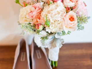 Růžové svatební baleríny