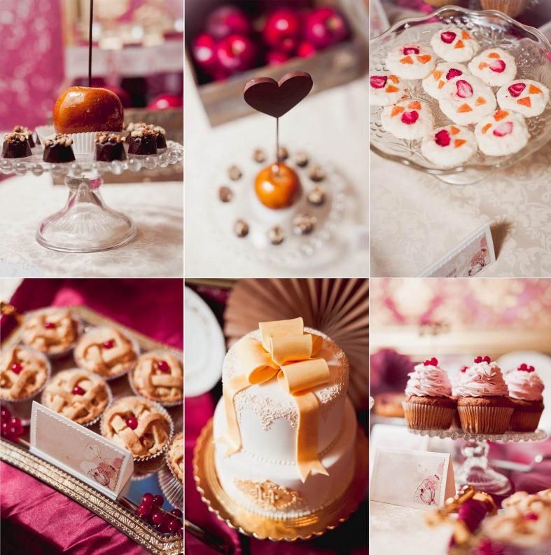 Růžovo-oranžová sladká svatební inspirace