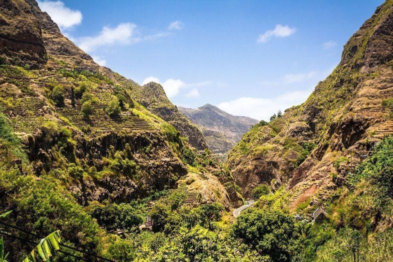 Hornatá část ostrova Santo Antão
