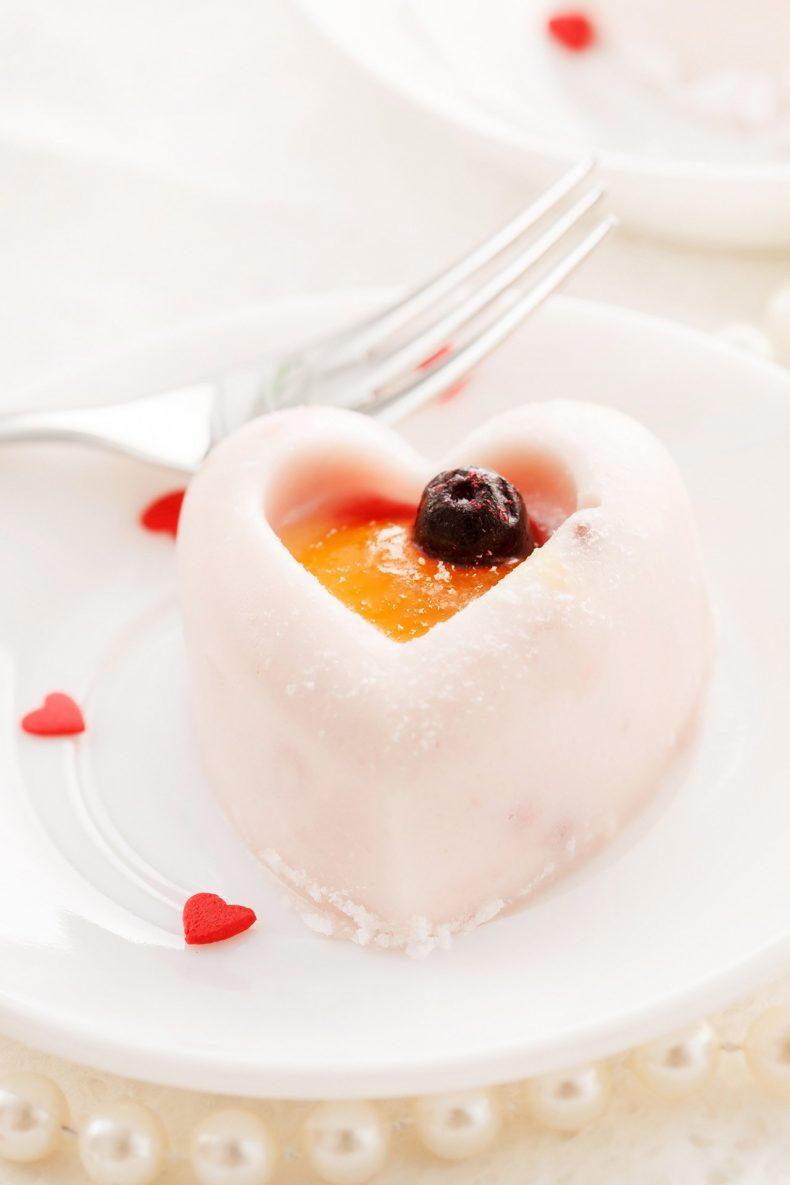 Sladký dortík ve tvaru srdce