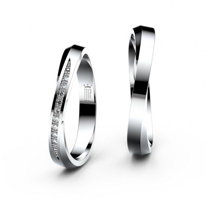 Snubní prsteny Danfil ze stříbra se zirkony