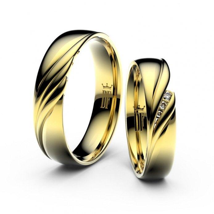 Snubní prsteny Danfil ze žlutého zlata