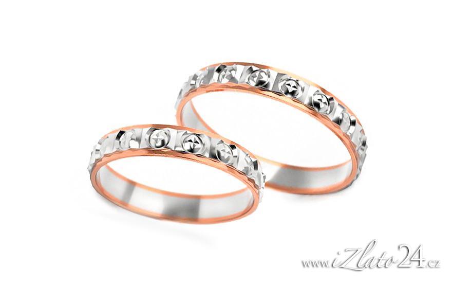 Snubní prstýnky z růžového zlata