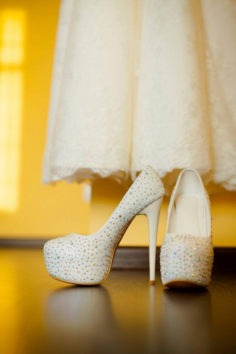Svatební boty na vysoké platformě
