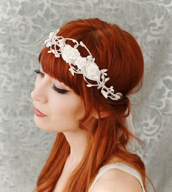 Svatební čelenka do vlasů