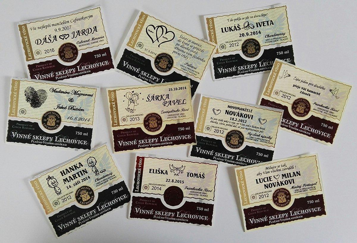 Svatební etiketa Vinné sklepy Lechovice
