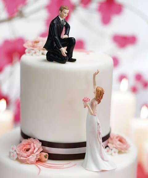 Svatební figurky na dort