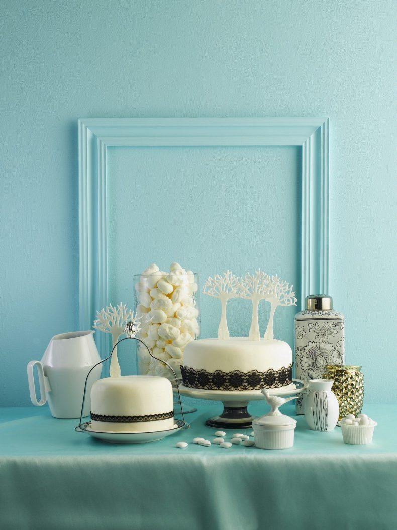 Svatební koutek s dekoracemi