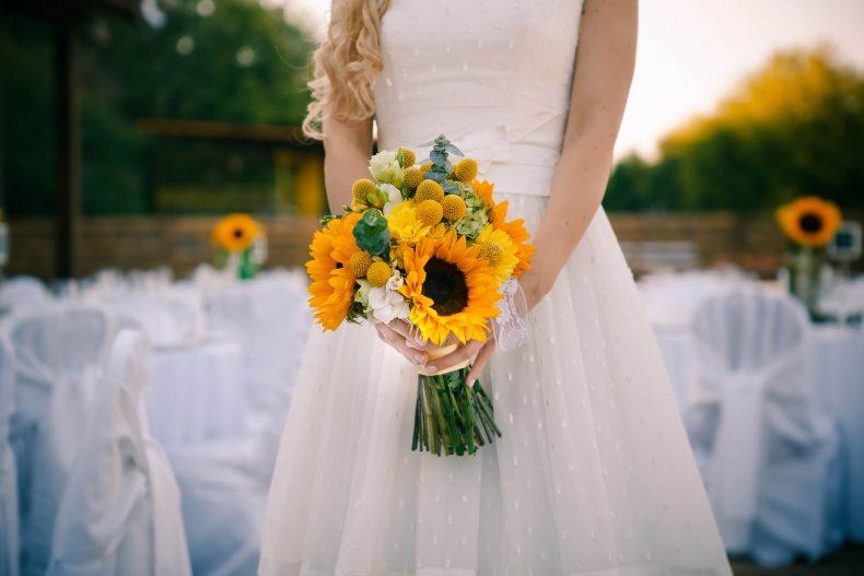 Svatební kytice ze slunečnic