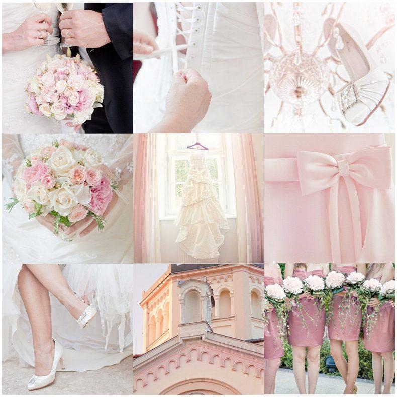 Světle růžovo-béžová svatba