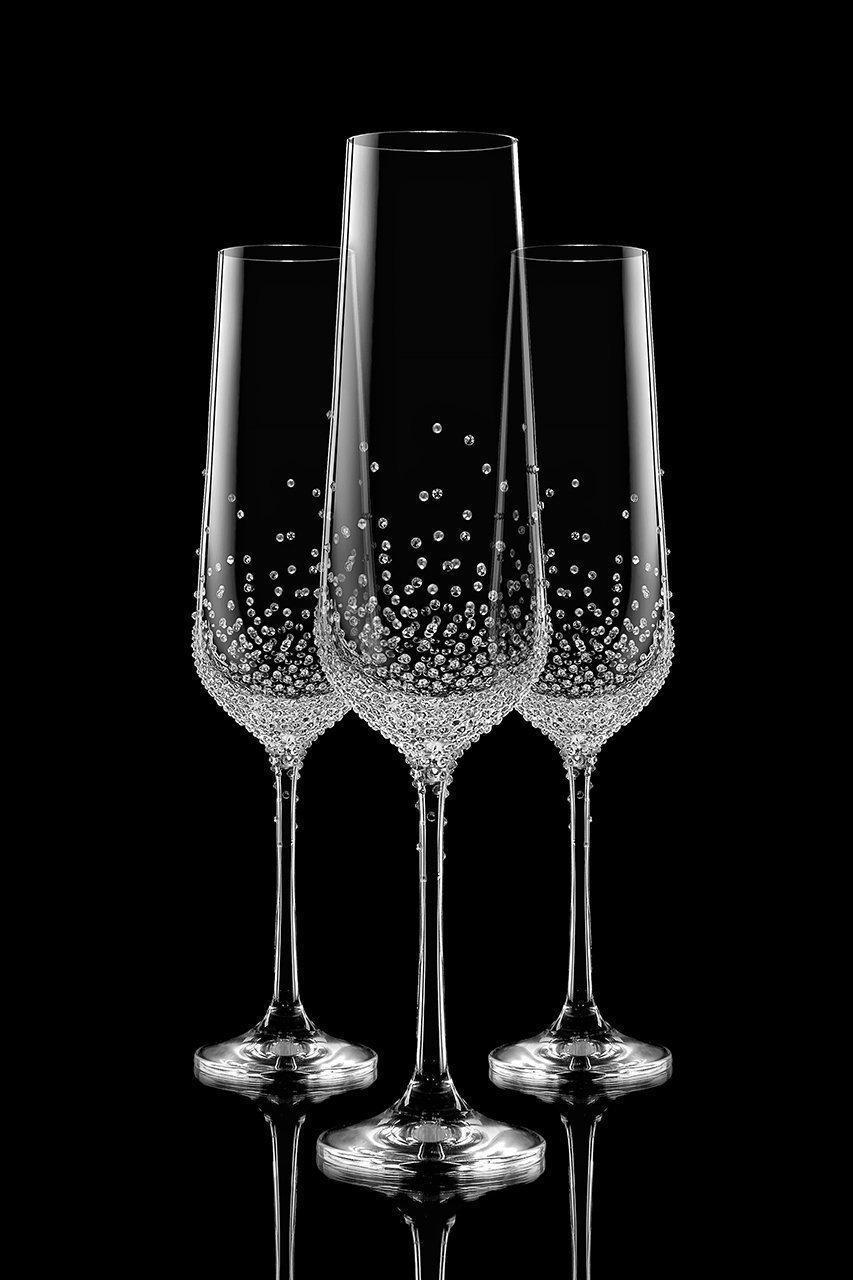 Úzké zdobené skleničky