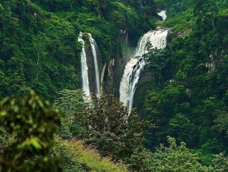 Vodopády Ramboda Srí Lanka