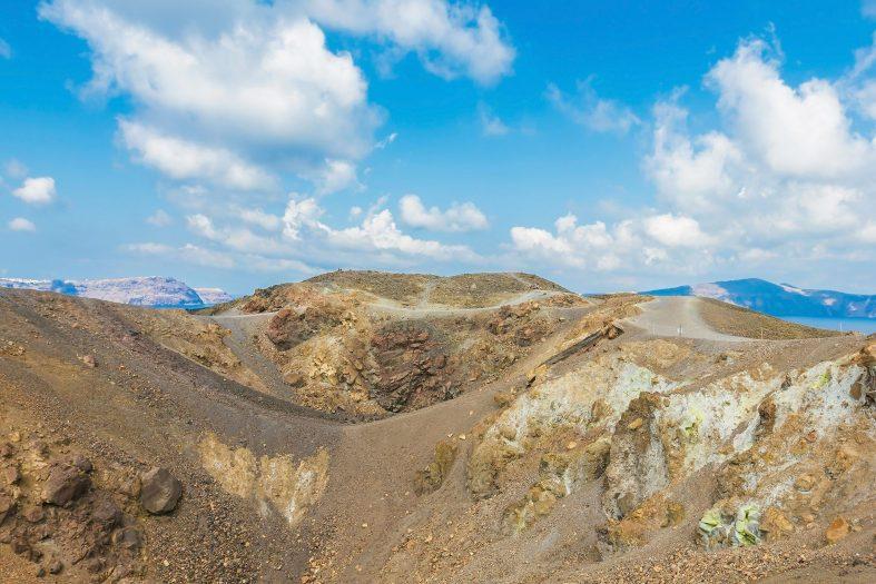 Vulkanický ostrov Nea Kameni
