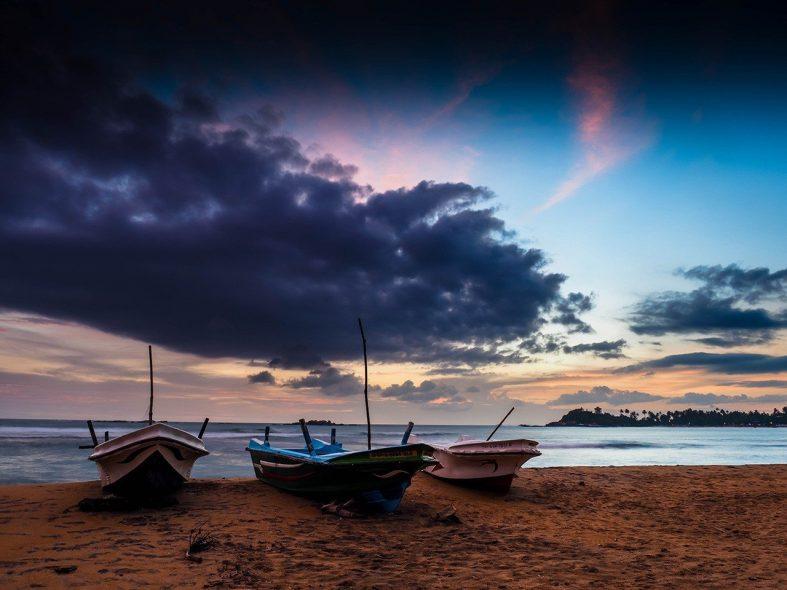 Západ slunce na Srí Lance
