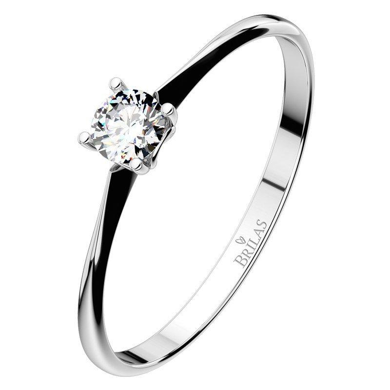 Zásnubní prsten Brilas z bílého zlata