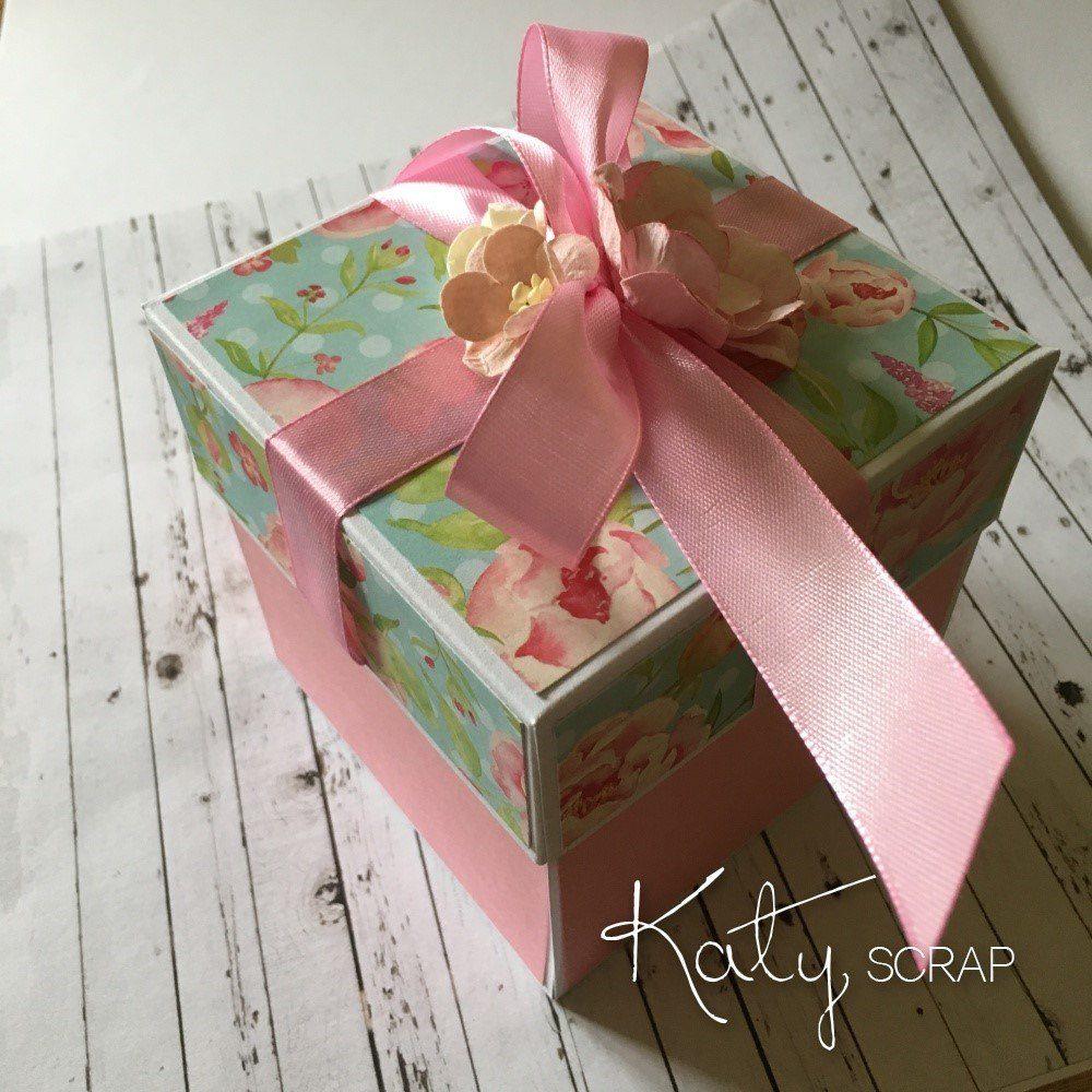 Zeleno-růžová dárková krabička