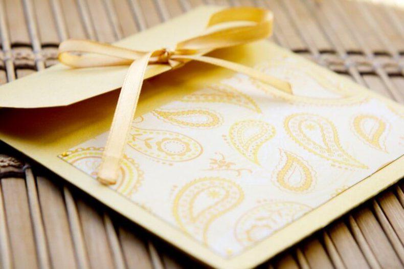 Žluté svatební přání